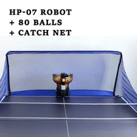 Automatic ping pong trainer Robot table tennis robot machine for training HP-07 Pingpong Ball with with Catch Net 80 Balls 8