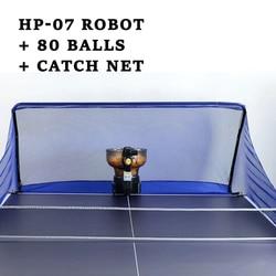 Automatische ping pong trainer Roboter tischtennis roboter maschine für ausbildung HP-07 Pingpong Ball mit mit Fangen Net 80 kugeln 8