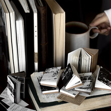 Retro Antique Black And White Memo Pad Diy Material Paper Journal Scrapbooking Book Pack Notepad Wholesale