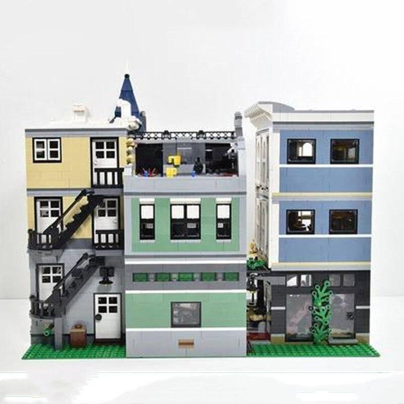 Быстрая доставка 15019 город строительные игрушки 10255 сборка квадратный набор детские игрушки строительные блоки кирпичи сборочные наборы модельные подарки - 2