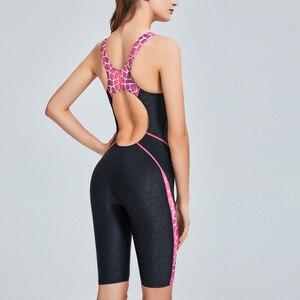 Image 3 - Riseado New Sport One Piece Swimsuit Patchwork Competitive Swimwear Women Racer Back Bathing Suit 2020 Boyleg Swimming Bodysuit