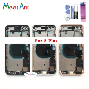 Image 2 - High qualit For iphone 8 8G 8 Plus Back Middle Frame Chassis Full Housing Assembly Battery Cover Door Rear Glass with Flex Cable