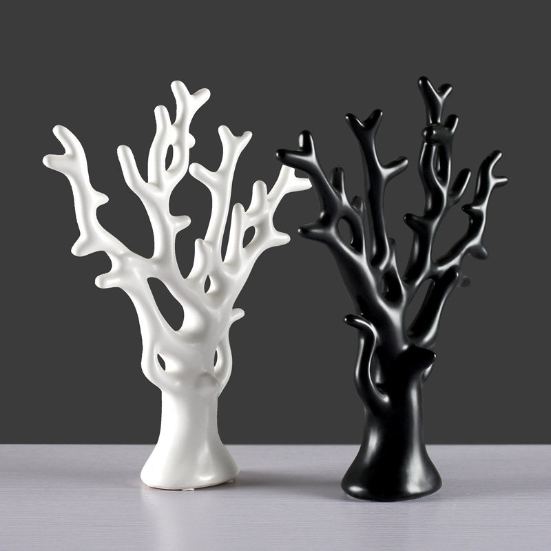 Modern Ceramic Colorful Tree Figurines Crafts Home Livingroom Table Furnishing Decoration Office Desktop Accessories Ornaments