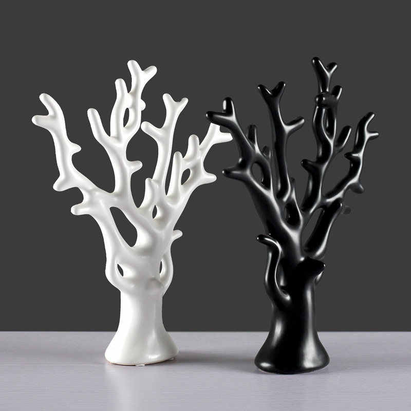 Modern Ceramic Colorful Tree Figurines Crafts Home Livingroom Table Furnishing Decoration Office Desktop Accessories Ornaments Aliexpress