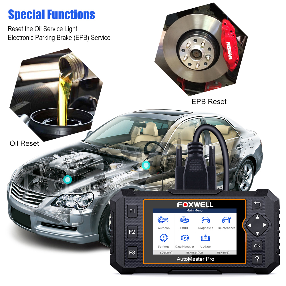 Image 3 - Foxwell NT624 Elite OBD2 Full System Diagnostic Tool ABS SRS SAS Oil EPB Servic Reset ODB2 OBD2 Automotive Scanner Free UpdateCode Readers & Scan Tools   -
