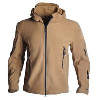 Army Fans Autumn And Winter Commander Jacket TAD Shark Skin Soft Shell Outdoor Warm Fleece Jacket Men's Windbreakers Cold Jacket|Hiking Jackets|   -