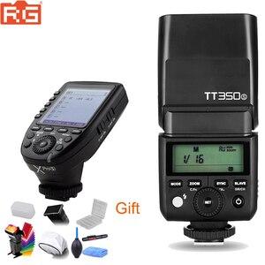 Image 1 - Мини вспышка Godox TT350 GN36, 2,4G, TTL HSS, Вспышка Speedlite + XPro X, трансмиттер, комплект триггеров для камер Canon, Nikon, Sony, Fuji, Olympus