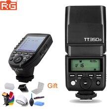 Godox tt350 gn36 2.4g ttl hss mini flash speedlite + xpro x flash transmissor gatilho kit para canon nikon sony fuji olympus câmera