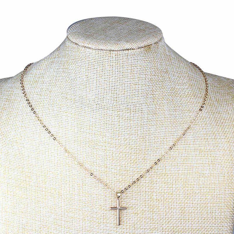 Moda jóias na moda croos pingente colar para mulher jóias masculinas
