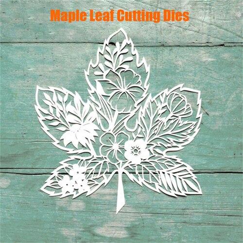 Maple Leaf Flower Metal Cutting Dies For Scrapbooking New 2019 Craft Die Cut Card Making Embossing Stencil