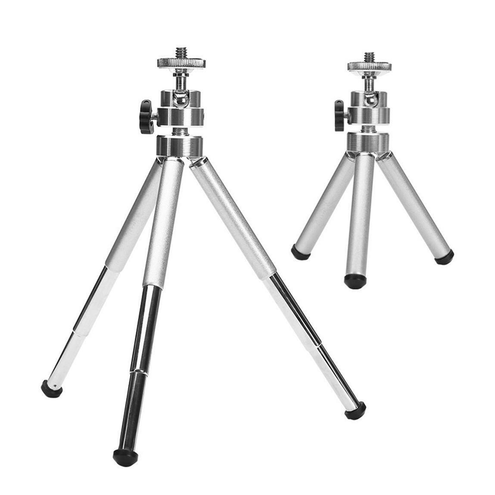 1PC Mini Aluminum Alloy Desktop Tripod 3 Section Stand Holder For Projector Camera