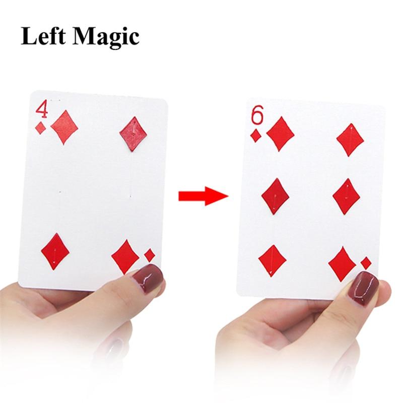 Fantastic 4 To 6 Moving Point Magic Tricks Close Up Card Magic  Professional Magician Trick  Magic Tool Magic Prop
