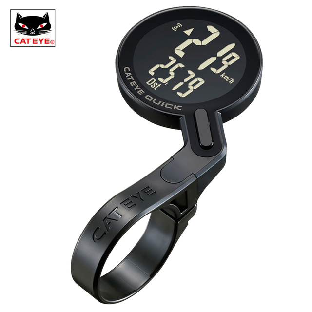 CATEYE Bicycle Computer Bike Analog Wireless Speedometer Cycling Waterproof Stopwatch Integrated Out Front Holder Computer NEW 1