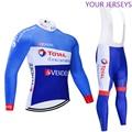 Invierno 2020 equipo directo Energy térmico polar Ciclismo Jersey Bicicleta pantalones conjunto hombres Ropa Ciclismo 20D