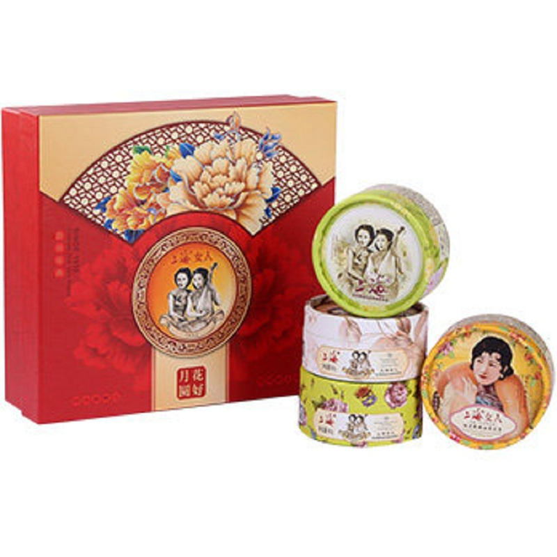 old Shanghai women Huahaoyueyuan snow cream face sets Moisture replenishment 80g*4pcs hydroquinone whitening cream skin care