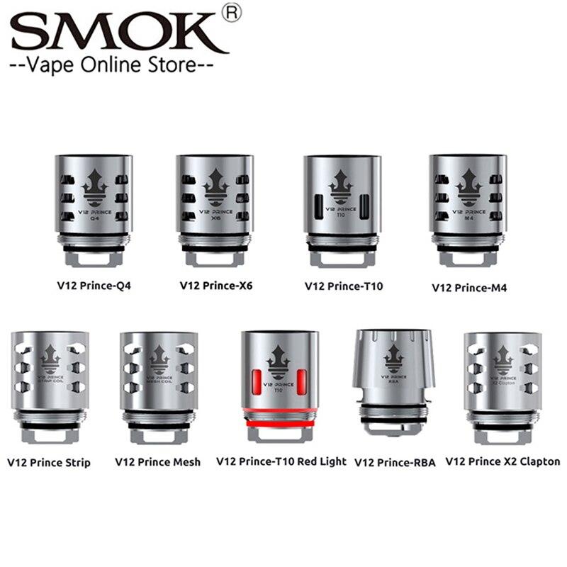 Bobine d'origine SMOK TFV12 Prince V12 Prince RBA Q4 M4 X6 T10 noyau de bande de maille adapté aux noyaux de cigarettes électroniques de réservoir TFV12 PRINCE