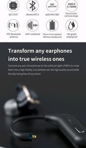 Image 5 - FiiO UTWS1 Bluetooth V5.0 aptX/tws + écouteurs crochet MMCX/0.78mm Module Bluetooth avec Support micro/8 h pour Shure/FiiO/Westone