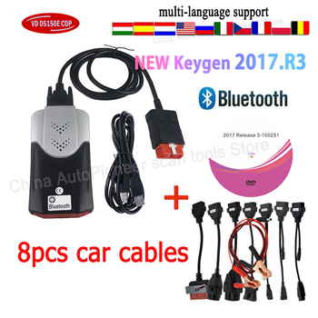2021 NEW VCI 2017.R3 with KEYGEN 2016.R0 VD DS150E Cdp Pro with Bluetooth for Delphis Obd2 Car Truck Diagnostic Tool Obd Scanner