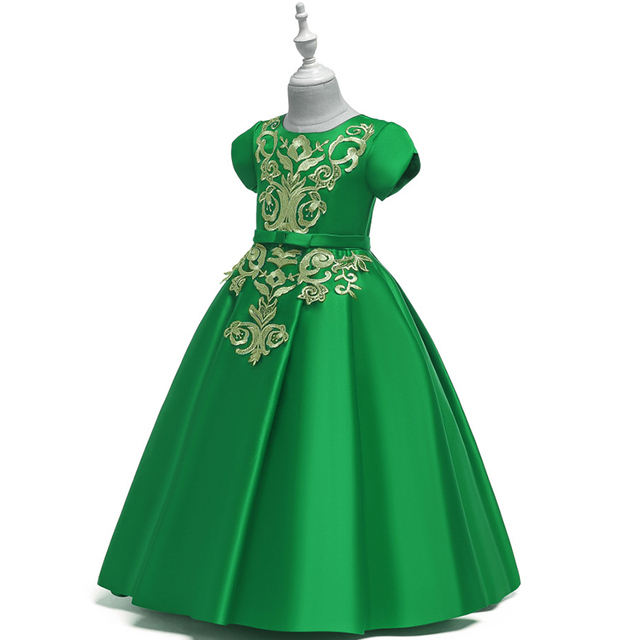 Купить однотонное платье трапециевидной формы с цветочным узором для картинки
