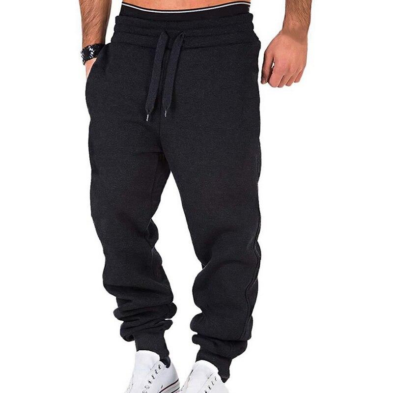 Men's Pants Fashion Cotton Mens Sweatpants Trousers Joggers Men Sports Fitness Pants Men's Casual Loose Trousers 2020