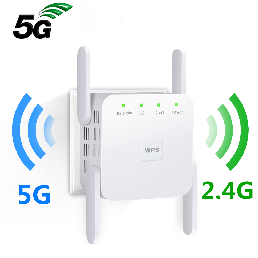 Wifi Repeater 5Ghz Wifi Extender 5G Wifi Amplifier AC 1200Mbps Router Wi fi Booster 2.4G 5ghz Wi-Fi Signal Wireless Repiter(China)