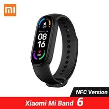 "Xiaomi Mi Band 6 NFC גרסה חכם צמיד 1.56 ""AMOLED מסך MiBand 6 2021 חדש"