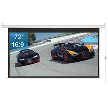 """7"""" моторизованный электрический проектор экран 16:9 4K Ultra HD 3D готов настенный с 12 В триггерный пульт дистанционного управления для домашнего кинотеатра"""