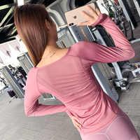 Yoga Shirt Frauen Zipper Langarm Frauen Sport-Shirt Nahtlose Top Workout Tops Für Frauen Fitness Shirt Frauen Workout shirts