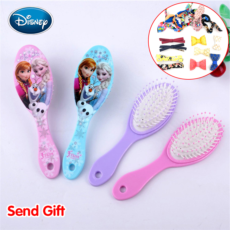 Disney Snow Princess Comb Child Air Cushion Massage Broken Hair Comb Not Knotted Gift With Mirror A Variety Of Styles