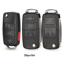 Jingyuqin 20 шт./лот пульт дистанционного управления для автомобиля, чехол брелок для Vw Jetta Golf Passat Beetle Polo Bora MK4 Seat Altea Skoda