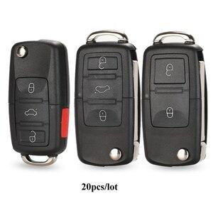 Image 1 - Étui à clé pour Vw Jetta Golf Passat coccinelle Polo Bora MK4 siège Altea Skoda 20 pièces/lot