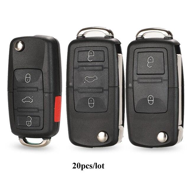 Étui à clé pour Vw Jetta Golf Passat coccinelle Polo Bora MK4 siège Altea Skoda 20 pièces/lot