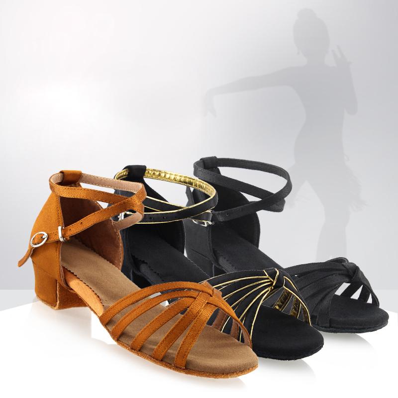 Wholesale Latin Dance Shoes Woman Shoes Low Heel Tango Rumba Salsa Ballroom Latin Dance Shoes For Girls