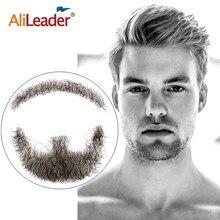 Alileader Top Selling sztuczna broda Hand Made 100 procent włosy naturalne szwajcarska koronka wygodne niewidoczne Remy włosy wąsy dla mężczyzn