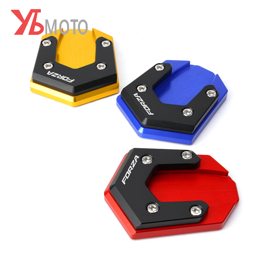 Motorcycle CNC Aluminum Side stand extension plate Kickstand Enlarger pad For HONDA FORZA125 FORZA300 FORZA 300 125 2018-2020