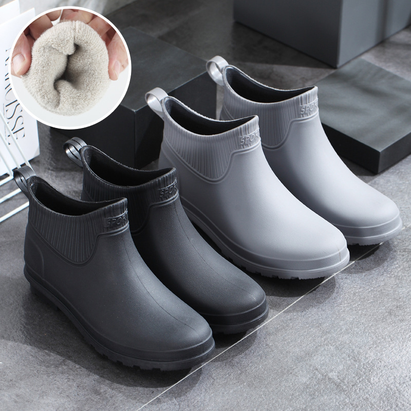 Fashion New Industrial And Mining Professional Kitchen Fishing Car Wash Leisure Warm Waterproof Labor Protection Rain Shoes