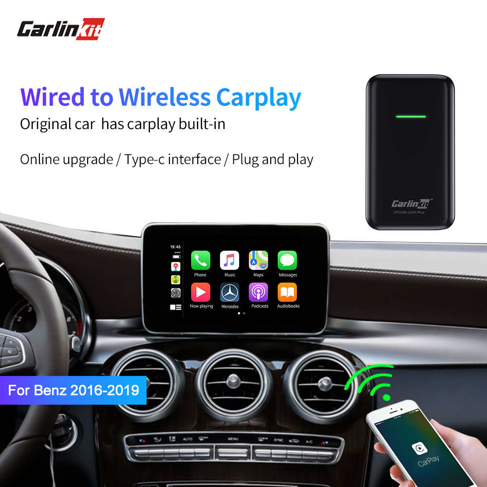 Carlinkit CarPlay Wireless Activator For Volvo /Benz/Audi/VW/Original Car Has Wired Carplay Built-in Wired To Wireless