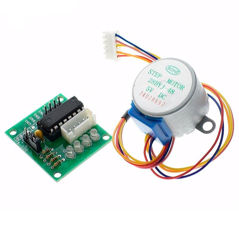 Diy אלקטרוני עבור Arduino 28BYJ-48 5V 4 שלב מנוע DC + ULN2003 כונן מבחן לוח מודול לarduino ערכת diy אלקטרוני