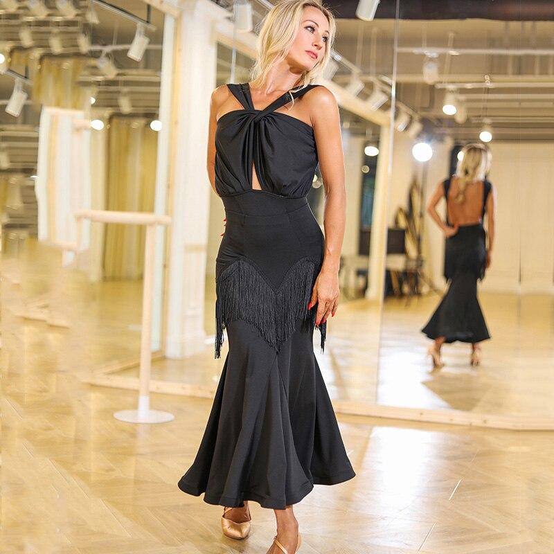 Sexy Ballroom Dance Fringe Dresses Women Tango Salsa Latin Dance Practice Dancing Wear Rumba Samba Performance Outfit DC2791
