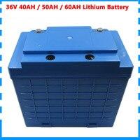 36 v 1500 w ebike bateria 36 v 40ah 50ah 60ah bateria de lítio com uso 26650 célula 50a bms 5a carregador