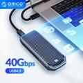 ORICO LSDT USB4.0 M.2 SSD чехол 40 Гбит/с M2 NVMe чехол совместим с Thunderbolt 3 4 USB3.2 USB 3,1 3,0 Type-C несколько протоколов