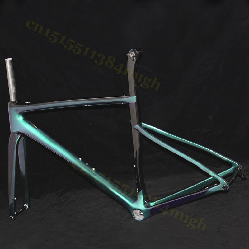 700C Bike Frameset Disc-Brake Bicycle Carbon-Road-Frame BSA BB30 Sagan Chameleon Customizati LOGO
