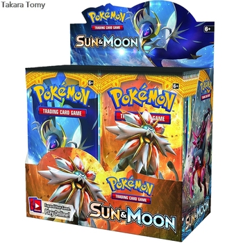 324pcs Pokemones cards TCG: Sun & Moon Edition 36 Packs Per Box Collectible Trading Card Game 1