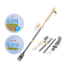 aquarium cleaner fish tank sand cleaner kit with air pressing button and adjustable water flow controller clamp for fish tank Electric Aquarium Vacuum Cleaner Fish Tank Water Filter Sand Remover Syphon Operated Filter Gravel Cleaning Tools