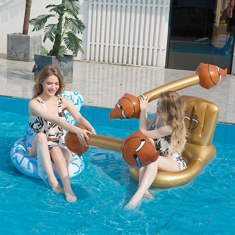 Funny Inflatable Joust Swimming Ring Toilet Mount Pool Float Game Pool Float Toy Water Game Adult Kid Pool Party Inflat Raft Toy