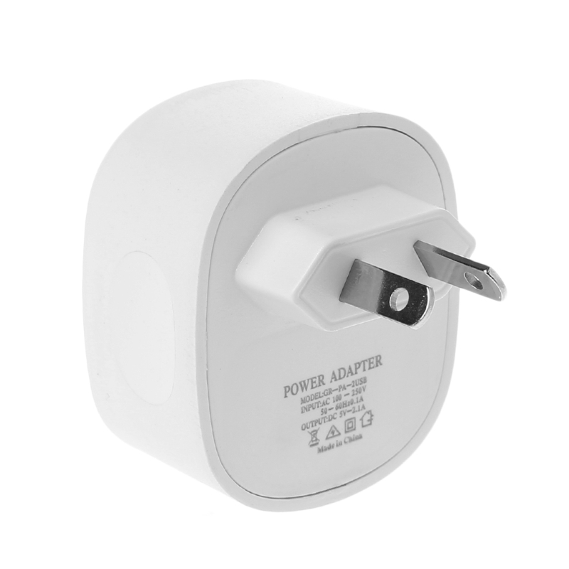 Universal Travel Home Dual USB Wall AC Power Charger Adapter US/EU/UK/AU Plug DXAC