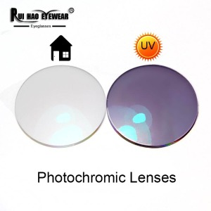 Image 1 - 1.56 1.61 1.67 Photochromic Lenses Grey Brown Sunglasses Lens Myopia Resin Lens Anti UV Discolor Indoor Transparent