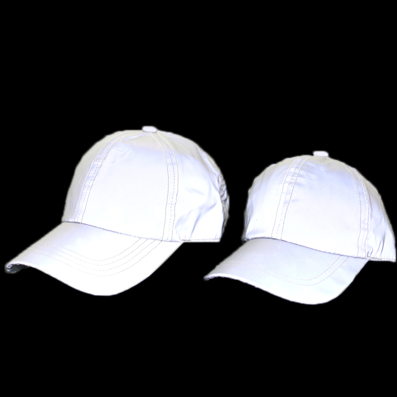 FOXMOTHER New Outdoor Sports Club Running Casquette Silver Grey Reflective Luminous Baseball Caps Dad Hats For Men Women Gorras