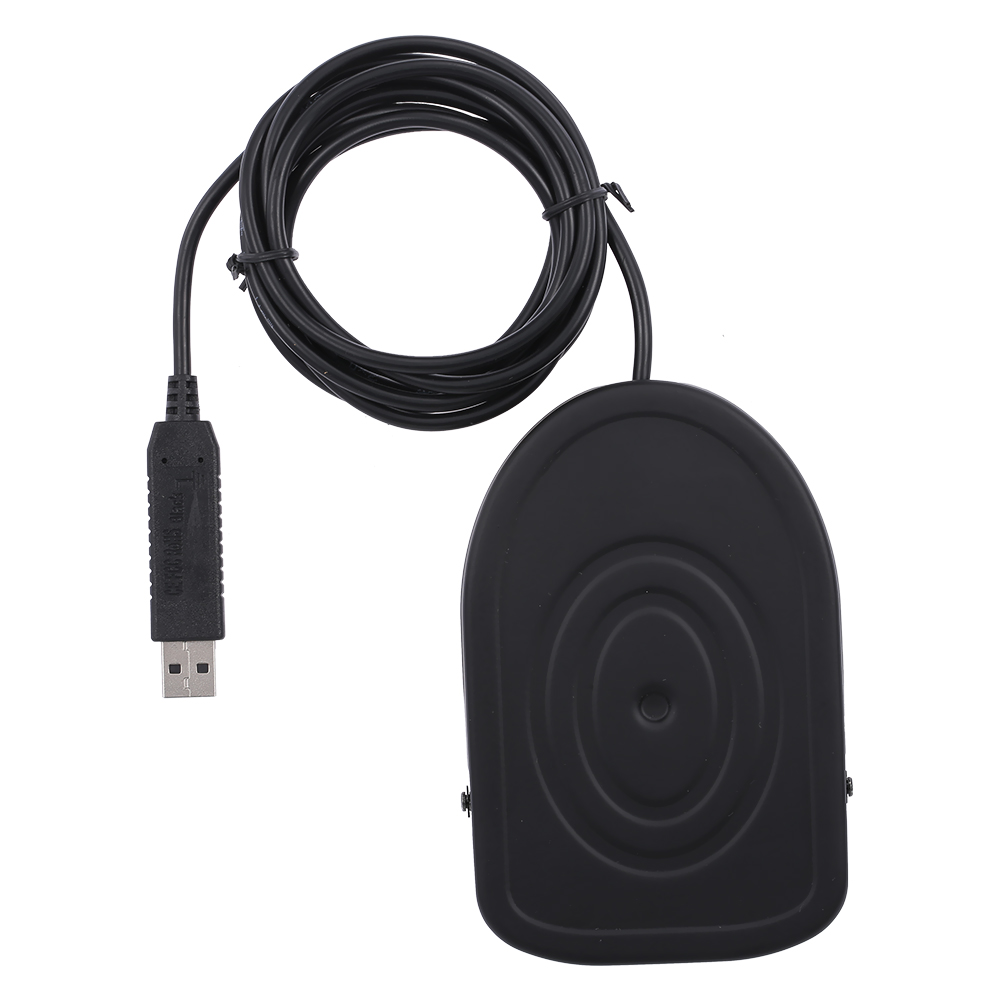 USB Metal Foot Switch Operated Pedal Controller One Customized Keyboard Mouse Multimedia Function Character String