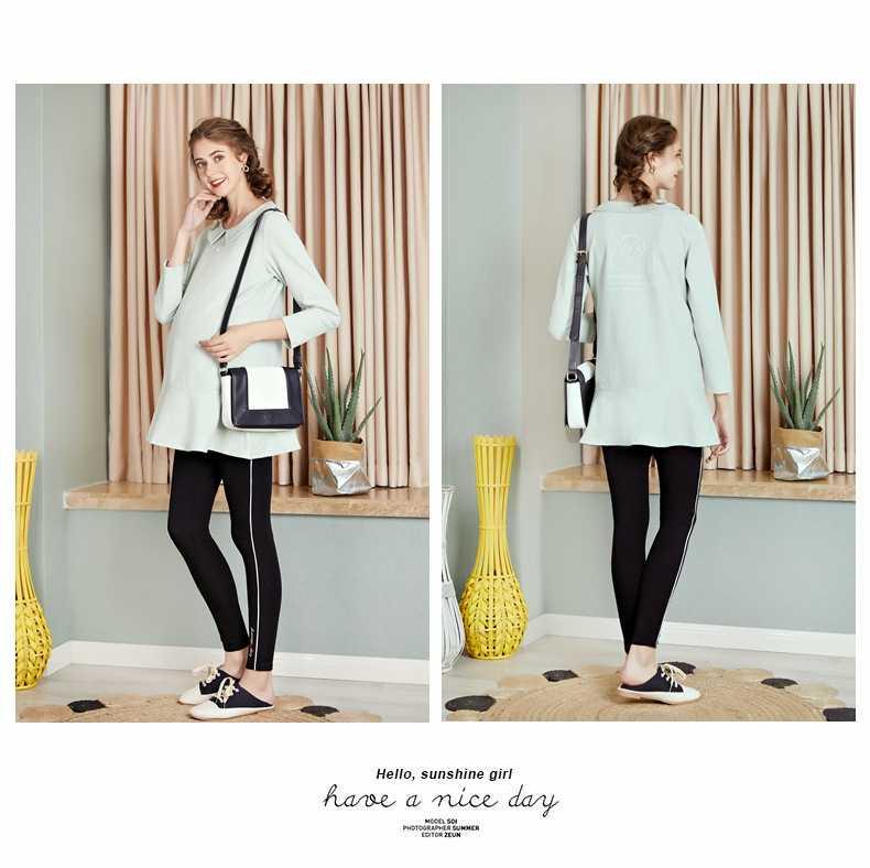 출산 드레스 가을 새로운 패션 임신 옷깃 기질 대형 fishtail 스윙 스웨터 티셔츠 출산 셔츠 joyray. b